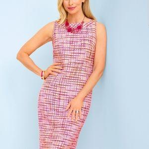 Talbots Ribbon Tweed Shift Dress